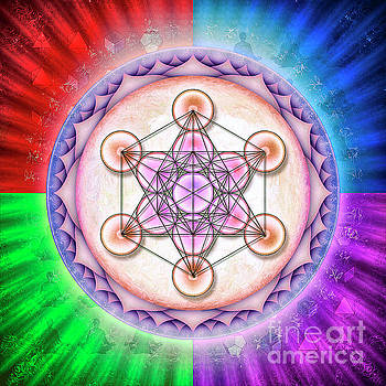 Metatron's Cube - Artwork Sun No. 2 by Dirk Czarnota