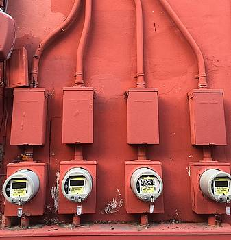 Meter Reader Red 2 by Gia Marie Houck