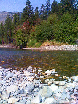 Methow River In Mazama Landscape Photography by Omashte by Omaste Witkowski