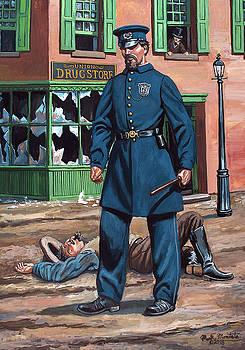 Metropolitan Police Officer  - New York City Draft Riots - July 1863 by Mark Maritato