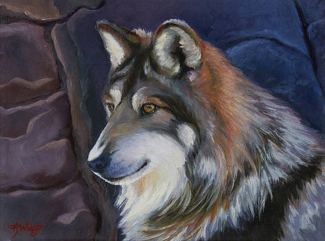Mexican Gray Wolf by Katy Widger