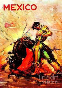 Peter Ogden - Mexican Matador Travel Poster 1950s