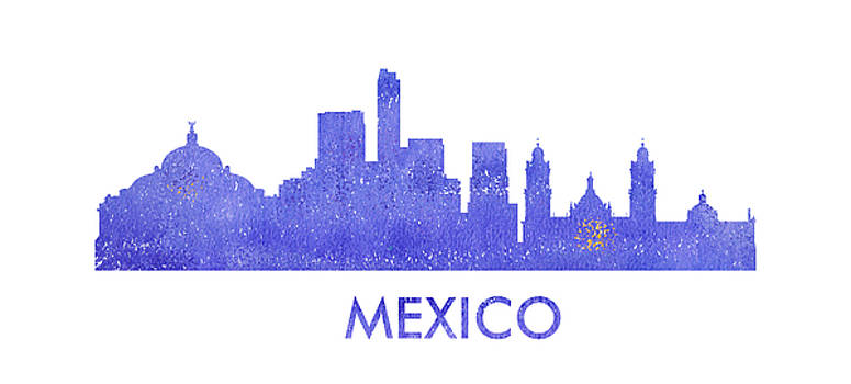 Vyacheslav Isaev - Mexico  city purple skyline