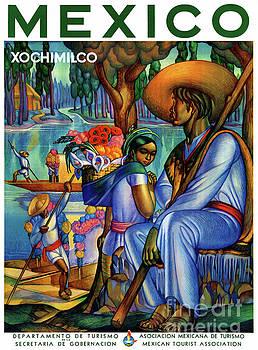 Mexico Xochimilco Vintage Poster Restored by Carsten Reisinger