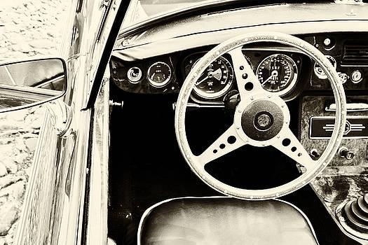 Georgia Fowler - MG Steering Wheel in sepia