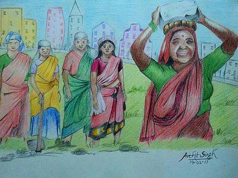 MGNREGA workers by Archit Singh