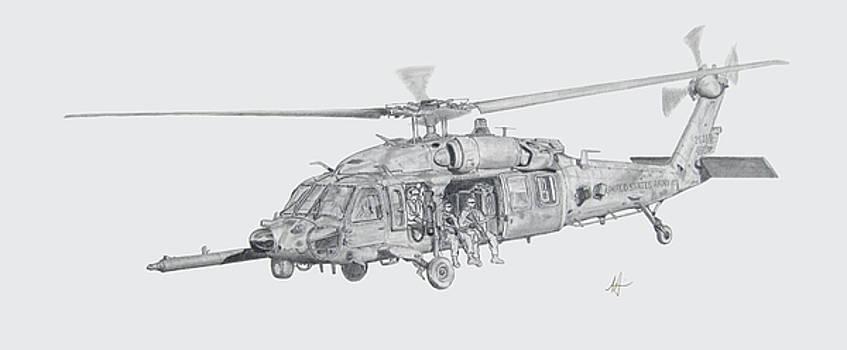 MH60 with gun by Nicholas Linehan