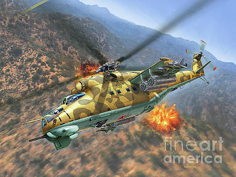 Mi-24D Hind by Stu Shepherd