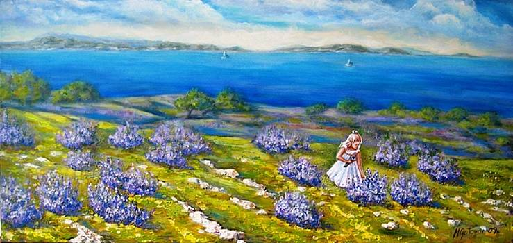 Mia on The Lavenders Field by Mirjana Gotovac