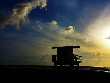 Miami Beach Dusk by Robin Zygelman