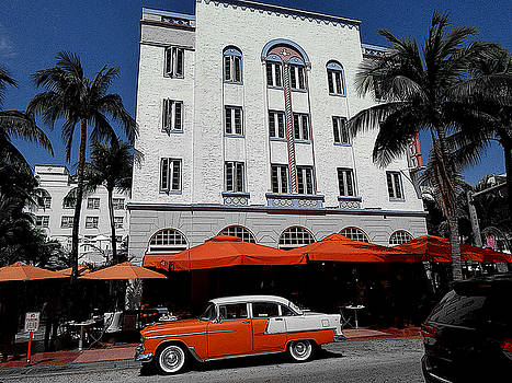 Ocean Drive Hotel - Miami Beach Florida by Art America Gallery Peter Potter