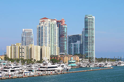 Miami Beach Marina by Art Block Collections