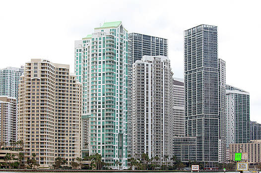 Miami Highrises by Art Block Collections