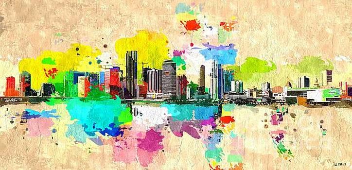 Miami Skyline by Daniel Janda