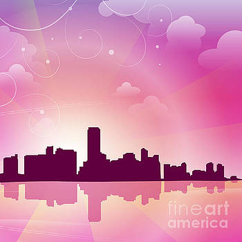 Miami Skyline by Sandra Hoefer