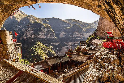 Mianshan temple cave by Adrian Baljeu
