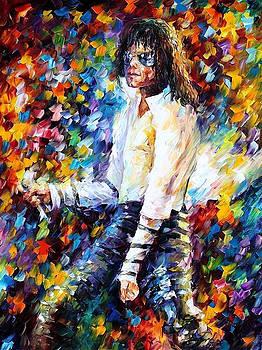 Michael Jackson 2 - PALETTE KNIFE Oil Painting On Canvas By Leonid Afremov by Leonid Afremov