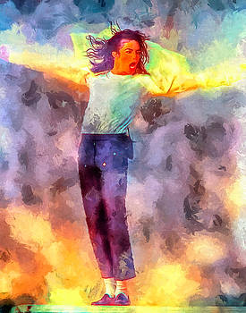 Michael Jackson Art Portrait Painting by Andres Ramos