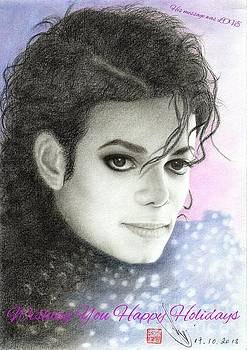 Michael Jackson Christmas Card 2015 - 'His message was LOVE' by Eliza Lo