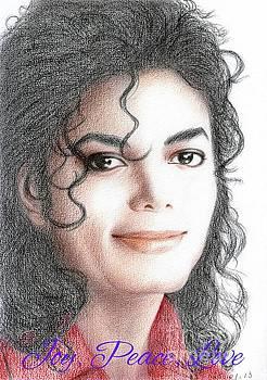 Michael Jackson Christmas Card 2016 - 001 by Eliza Lo