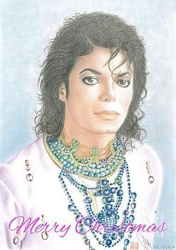 Michael Jackson Christmas Card 2016 - 002 by Eliza Lo