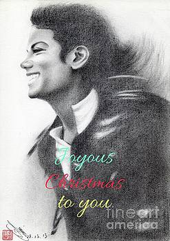 Michael Jackson Christmas Card 2016 - 003 by Eliza Lo