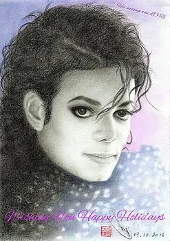 Michael Jackson Christmas Card 2016 - 007 by Eliza Lo