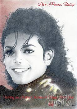 Michael Jackson Christmas Card 2016 - 008 by Eliza Lo