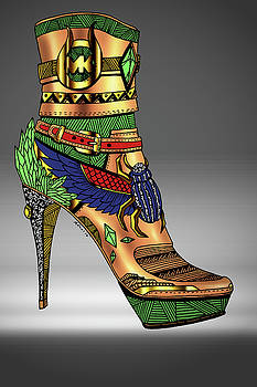 Michael Kors Shoe Illustration No.1 by Kenal Louis