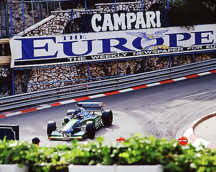 John Bowers - Michael Schumacher after Winning 1994 Monaco GP