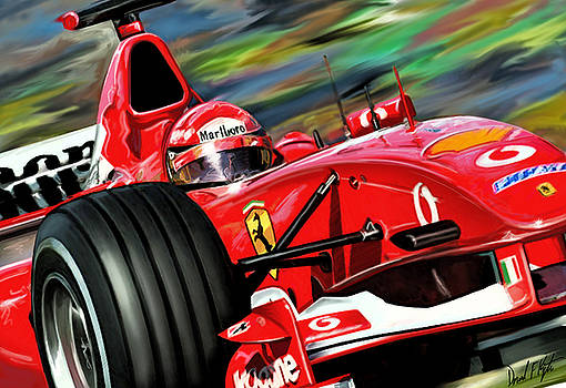 Michael Schumacher Ferrari by David Kyte