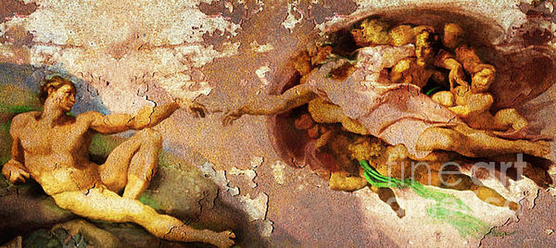 Wingsdomain Art and Photography - Michelangelo The Creation of Adam in Rust 20150622
