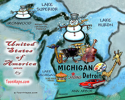 Kevin Middleton - Michigan Fun Map