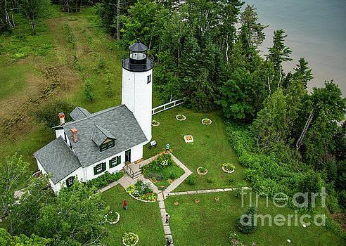 Michigan Island Lightstation Sailing Apostle Islands National Lakeshore Bayfield Wisconsin by Wayne Moran