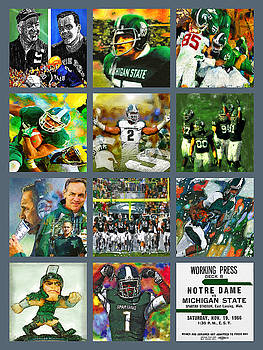 Michigan State Spartans Football Collage by John Farr