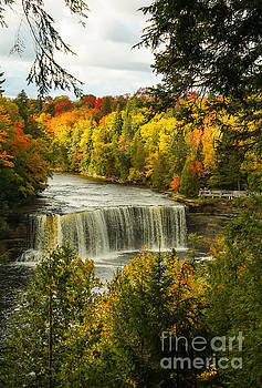 Michigan Waterfall by Marilyn Carlyle Greiner