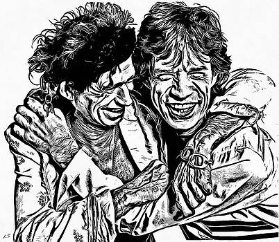 Mick and Keith by Sergey Lukashin