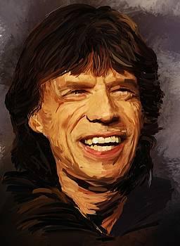 Mick Jagger by Brian Tones