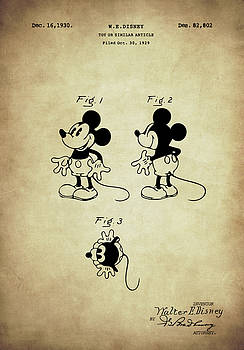 Mickey Mouse Patent Vintage by Taylan Apukovska