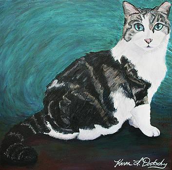 Mickey the Feral Cat by Karen Dortschy