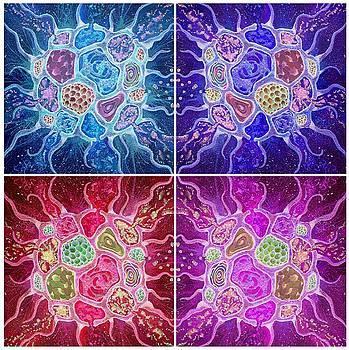 Microcosm Tiles by Lynne Henderson