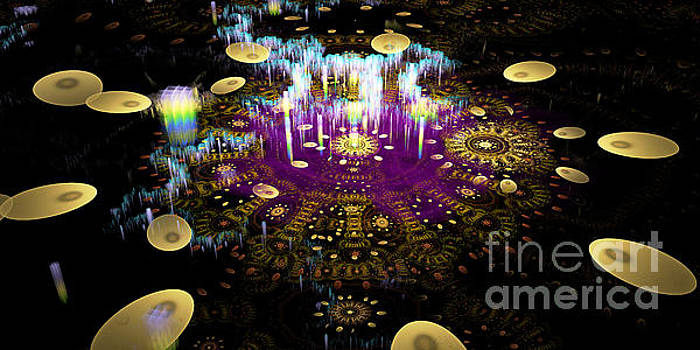 Microscopic IX - Temple of light  by Sandra Hoefer