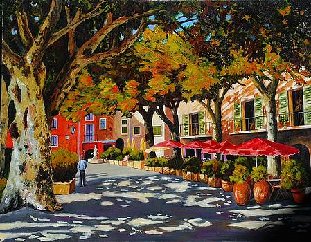 Mid-day shade in the village by Santo De Vita