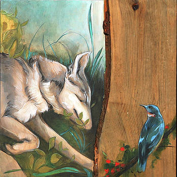 Mid-Summers Day Dream 3rd Panel by Jacque Hudson