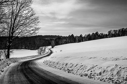 Mid-Winter Road B-W by Tim Kirchoff