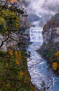 Middle Falls Letchworth state park by Dick Wood