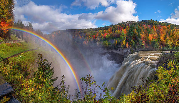 Middle Falls Rainbow by Mark Papke