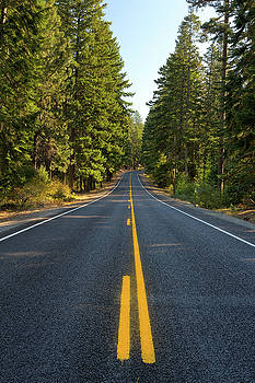 Middle of the Highway in Oregon by David Gn
