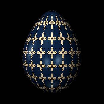 Hakon Soreide - MIdnight Blue Ornamental Egg