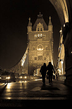 Midnight Stroll over the Bridge by Joshua Francia